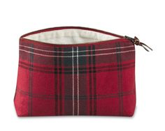 Tartan Cosmetic Bag (Williams-Sonoma) (I wish it didn't have linen in it. [55% linen, 45% cotton; lined with ivory linen-cotton])