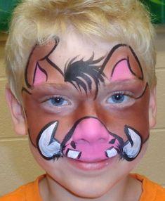 timon and pumbaa face paint - Google Search | Halloween ...