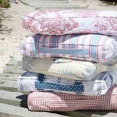coastal inspired floor cushions