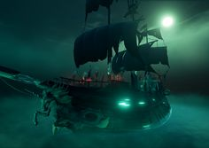 I was responsible for building the Ferry Of The Damned in Sea of Thieves. I absolutely loved putting this ship together as it is probably my favourite thing in the game. Pirate Art, Pirate Life, Heath Ledger Joker, Sea Of Thieves, Xbox One Pc, Ghost Ship, Pirates Of The Caribbean, Sailing Ships, Fantasy