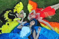 Pokemon Articuno, Zapdos, and Moltres Cosplay Pokemon Girls, Pikachu, Gijinka Pokemon, Cosplay Pokemon, Cool Costumes, Cosplay Costumes, Halloween Costumes, Costumes, Gaming