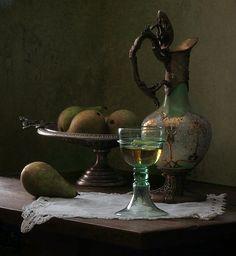 A glass of white wine, by Elena Tatulyan on photodom