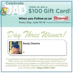 Day 3 Winner!!! Congratulations Sandy Cheecks you just won a $100 Gift Card from The Shops at Wiregrass!  Keep up the great work friends! 2 more chances to win this week!!