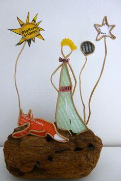 Le Petit Prince - figurine en ficelle et papier
