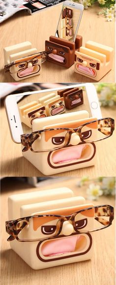 Cartoon Eyeglasses Holder Mobile Display Stand