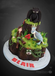 Riders of Berk Cake - Cake by Little Cherry Company