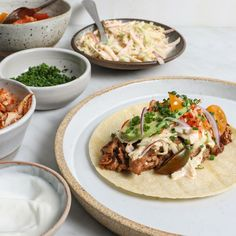 Get Food & Wine's recipe for Korean-Mexican Tacos from star chef Judy Joo. Pork Recipes, Wine Recipes, Asian Recipes, Mexican Food Recipes, Great Recipes, Ethnic Recipes, Japanese Recipes, Chalupa, Latin American Food