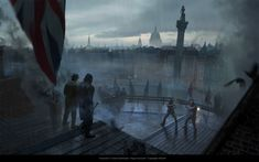 """""""We'll no doubt have more stuff from Syndicate to show off in the weeks ahead as more of Ubisoft's artists share their work on the game. Maybe """"weeks ahead"""" was being overly-pessimistic. Trafalgar Square, Horse Drawn, Slums, City Streets, Assassins Creed, Rogues, A Good Man, Concept Art, I Am Awesome"""
