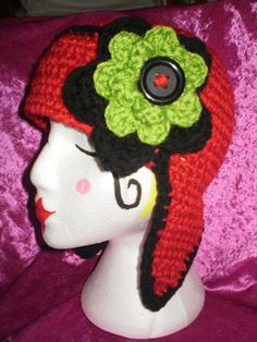 Funky Ladies Crochet Hunter Hat  Made To Order by chebyloudesigns, $30.00