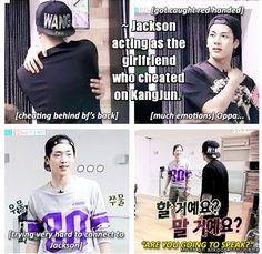 Jacksons weirdness made kangjun  speachless. Roommate.