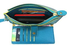 AngelShop 2015 Leisure Women Wallet Zipper Leather Clutch Bag Card Holder