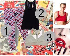 1 - Calça legging Kiss    2 - Regata fitness algodão    3 - Top franzido