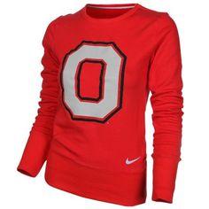Nike Ohio State Buckeyes Ladies Scarlet Excel Pullover Crew Sweatshirt