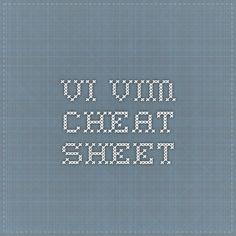 Vi Vim - Cheat Sheet