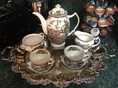 Johnson Brothers Friendly Village tea set ready for Thanksgiving