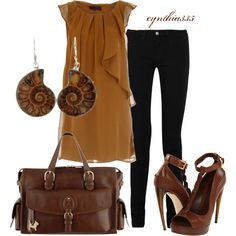 Caramel, created by cynthia335 on Polyvore