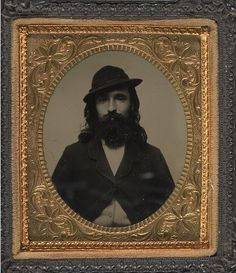 Tintype portrait of George Custer's photographer, William Frank Browne #1860s…