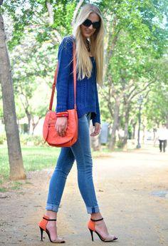 Stradivarius  Sweaters, H  Bags and Zara  Jeans