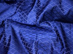 Navy Blue Silk Jacquard Blouse Fabric By The Yard Vest Coat | Etsy Brocade Fabric, Jacquard Fabric, Blue Fabric, Wedding Fabric, Bridal Fabric, Lehenga Blouse, Satin Color, Indian Fabric, Vest Coat