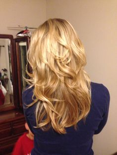 Flowing curls long layers