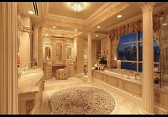 luxurious master bathroom  design