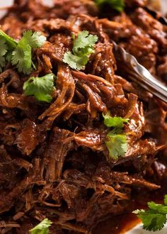 Slow Cooker Mexican Shredded Beef - This Mexican Shredded Beef has incredible de. - Slow Cooker Mexican Shredded Beef – This Mexican Shredded Beef has incredible depth of flavour! Shredded Beef Recipes, Mexican Shredded Beef, Meat Recipes, Slow Cooker Recipes, Mexican Food Recipes, Crockpot Recipes, Cooking Recipes, Shredded Beef Tacos Crockpot, Roast Beef Tacos