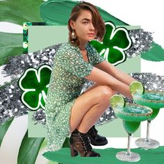 HAPPY ST. PATRICK'S DAY FOLKS!  ft. @BambiLegit in @RealisationPar ✨⠀  #realisationpar #bambilegit #stpatricksday #celebrations #stpaddysday #saintpatrick #ireland #luckoftheirish #irishculture #festival #shamrock #green #leprechaun #glitter #beer #collage #digitalcollage #creative #design #stylecollages