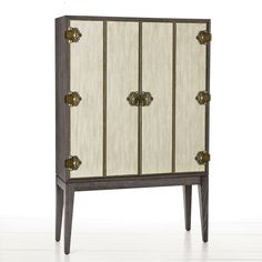 Super chic bar option :: The Chelsey Grey Limed Oak Cabinet by one of my favorites #Arteriors Home