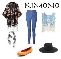 """Contest: Kimono"" by purplehoneybeefashion ❤ liked on Polyvore featuring Sans Souci, Miss Selfridge, rag & bone, Lily and Lionel and kimonos"