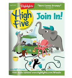 Available in: Print Magazine.Highlights High Five provides little kids with a magazine of their very own! Highlights High Five invites Airplane Activities, Infant Activities, Learning Activities, Kids Learning, High Five Magazine, Travel Toys For Toddlers, Highlights Magazine, Flying With A Baby, National Geographic Kids