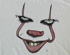 Stephen King Movie Art IT Pennywise Clown Art Pop Horror art Stephen King Movie Art IT Pennywise Clown Art Pop Horror Artwork 3d Art Drawing, King Drawing, Horror Drawing, Drawing Ideas, Scary Drawings, Cool Art Drawings, Art Drawings Sketches, Easy Halloween Drawings, Art It