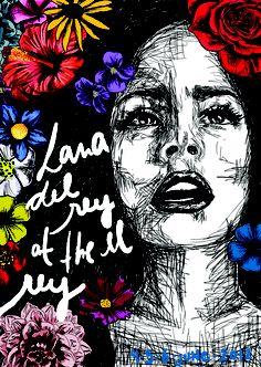 Lana Del Rey poster by Estelle Flores