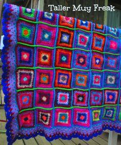 #crochet #colcha #grannysquare