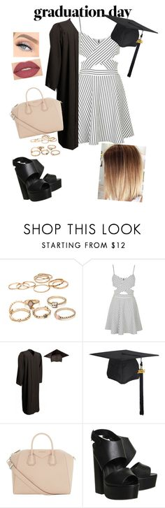 """""""Graduation Day Ready"""" by idreamof-music ❤ liked on Polyvore featuring Topshop, Givenchy, Office, Smashbox and graduationdaydress"""