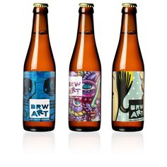 First bottle designs for our brand new craftbeer. You can send in your own. visit us at http://brwart.nl for more information.