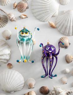Blown Glass, Glass Ornaments, Octopus, Calamari, Hand Blown Glass, Octopuses, Squidbillies