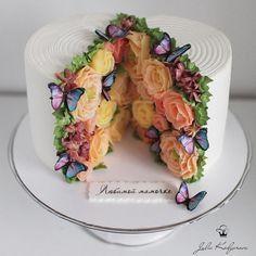 kedyarova Шикарный❤️как Вам❓👇 - Cake decorating tips - Gateau Beautiful Birthday Cakes, Birthday Cakes For Women, Beautiful Cakes, Amazing Cakes, Fancy Birthday Cakes, Fondant Birthday Cakes, Creative Birthday Cakes, Birthday Cake For Mom, Butterfly Birthday Cakes