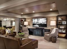 Wood ceilings and great layout. Looks like basement remodeling.