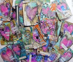 Altered deck of 52 cards for the September hop at Craft Hoarders Anonymous by Christy Houser
