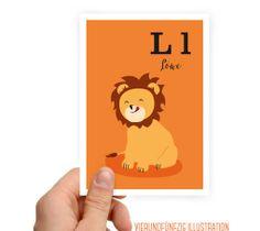Tier Alphabet L wie Löwe