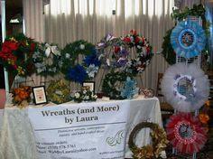 craft wreath booth pics | Pin by Deanna DiRenzo on Craft fair ideas | Pinterest
