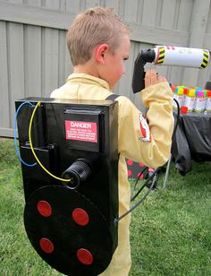 Jen from Sweeten Your Day Events created the coolest Ghostbusters costume complete with a DIY proton pack - perfect for Halloween!