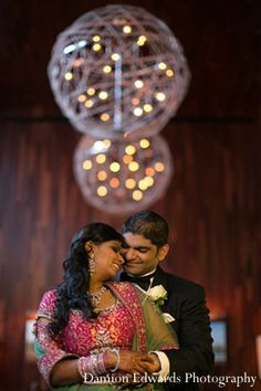 indian wedding reception portrait groom bride http://maharaniweddings.com/gallery/photo/11410