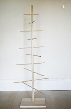 diy: simple dowel christmas tree I hope to use a dowel tree to display my mini Hummel ornaments
