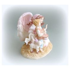 Seraphim Collectible Angel Figurine Angel Art Christmas Angel Decor... (€24) ❤ liked on Polyvore featuring home, home decor, christmas angel statues, lamb statue, angel statuary, christmas sculptures and christmas home decor