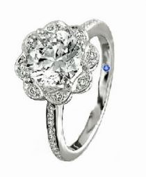 Jude Frances marquise flower ring
