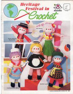 Heritage Festival in Crochet pattern leaflet Mangelsen OOP