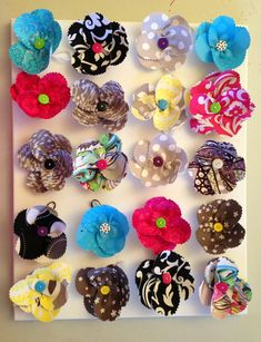 Thirtyone Fabric Fun Flowers, Easy To Make with Fabric Swatches.