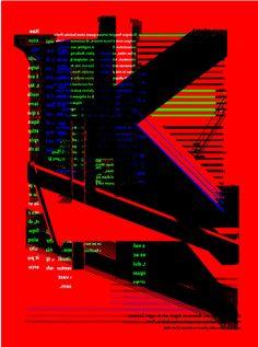 By Shunya Fujita (Fundam), 2014, Cryptogram poster.
