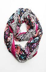 wildflower tapestry infinity scarf
